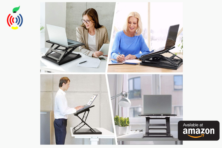 Neck Pain HUANUO Adjustable Laptop Stand for Desk